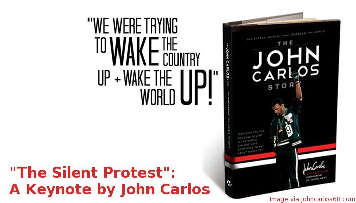 Book cover of The John Carlos Story