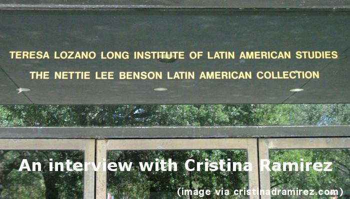 "Image of a sign on a building that reads, ""Teresa Lozano Long Institute of Latin American Studies / The Nettie Lee Benson Latin American Collection"""